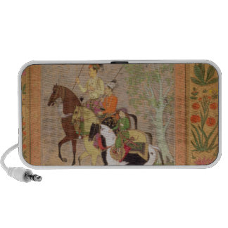 Three Princes Going Hunting, c.1635 (gouache on pa Portable Speaker