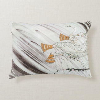 Three Princesses in Blue Mountain by Kay Nielsen Decorative Pillow
