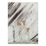Three Princesses in Blue Mountain by Kay Nielsen Poster