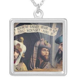 Three Prophets, Provence School Square Pendant Necklace