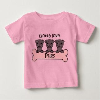 Three Pugs Baby T-Shirt