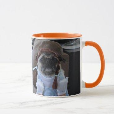 Halloween Themed Three Pugs dressed for Halloween Mug
