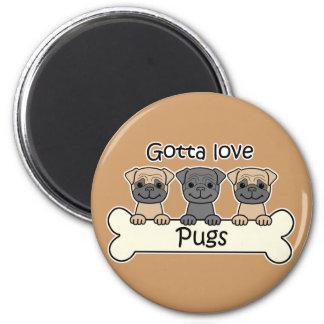 Three Pugs Magnet