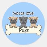 Three Pugs Sticker