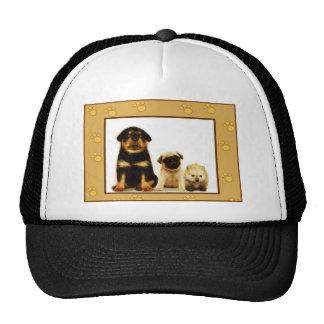 Three puppies cap trucker hat