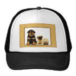 Three puppies cap mesh hat