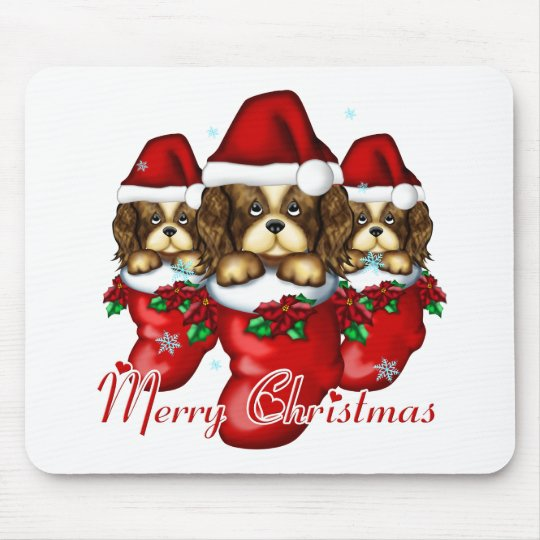 Three Puppies in Stockings Mouse Pad