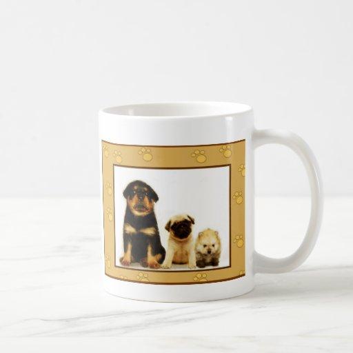 Three puppies mug