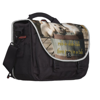 Three Pups-in-a-Tub Laptop Commuter Bag