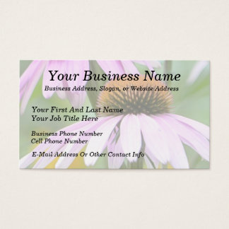 Three Purple Coneflowers Business Card