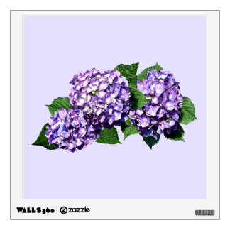 Three Purple Hydrangea Clusters Room Decal