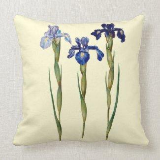 Three Purple Iris Throw Pillow 20