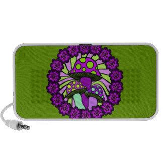 Three Purple Mushrooms Doodle Speaker