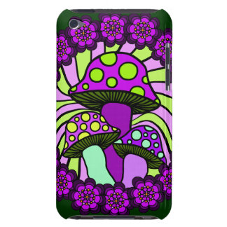 Three Purple Mushrooms iPod Case Barely There iPod Covers