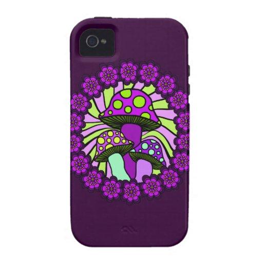 Three Purple Mushrooms Phone Case