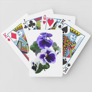 Three Purple Pansies in a Row Bicycle Playing Cards