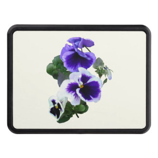 Three Purple Pansies in a Row Hitch Cover