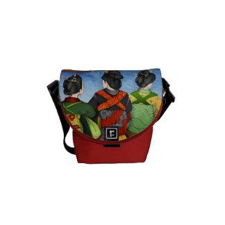 Three purse Geishas Messenger Bag