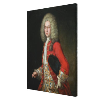 Three-Quarter Length Portrait of a Gentleman Weari Gallery Wrap Canvas