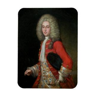 Three-Quarter Length Portrait of a Gentleman Weari Rectangular Photo Magnet