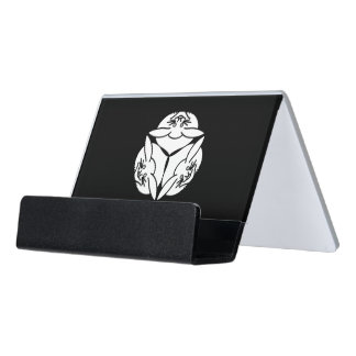 Three rabbits desk business card holder
