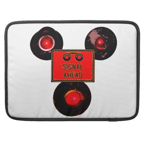 Three Railroad Signals Sleeve For MacBook Pro