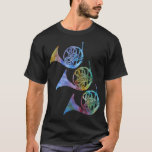 Three Rainbow French Horns T-Shirt