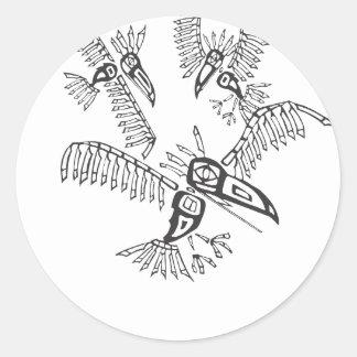 Three Ravens Classic Round Sticker