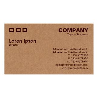 Three Rectangles - Cardboard Box Texture Business Card