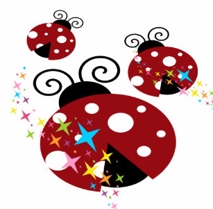Three Red And Black Ladybug With Stars Tote Bag