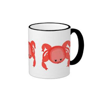Three Red Crabs Ringer Mug