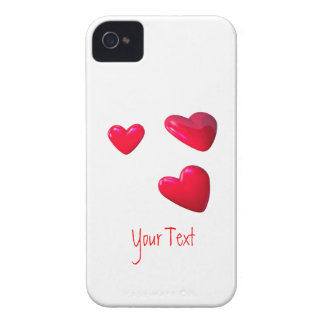 Three Red Hearts iPhone 4 Case