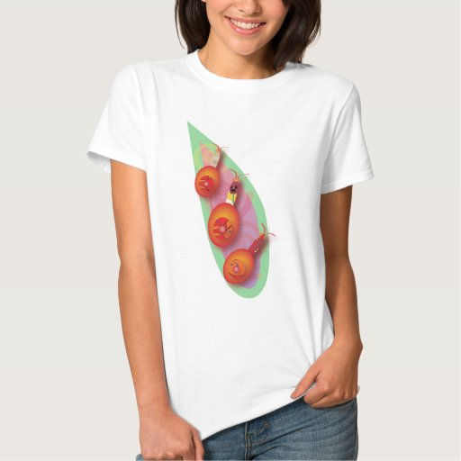 Three Red Snails Tees