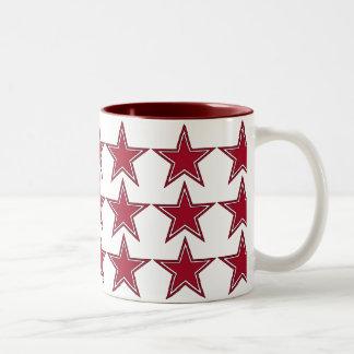 Three Red Stars Coffee Mugs