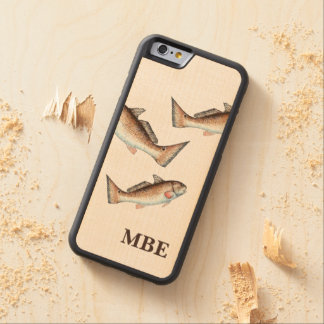 Three Redfish Swimming Carved Maple iPhone 6 Bumper Case