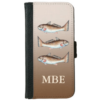 Three Redfish Wallet Phone Case For iPhone 6/6s