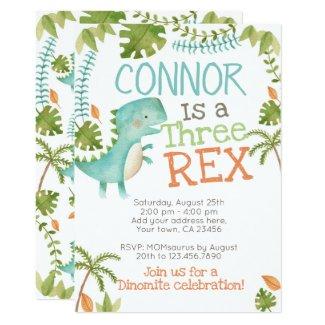 Three Rex Dinosaur Invitation