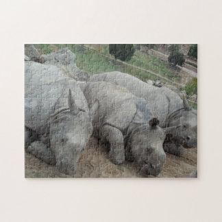 Three Rhinos jigsaw puzzle