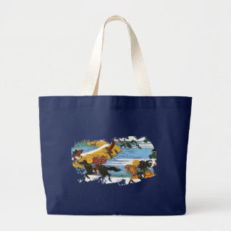 Three Riders 隅田川関屋の里 Large Tote Bag