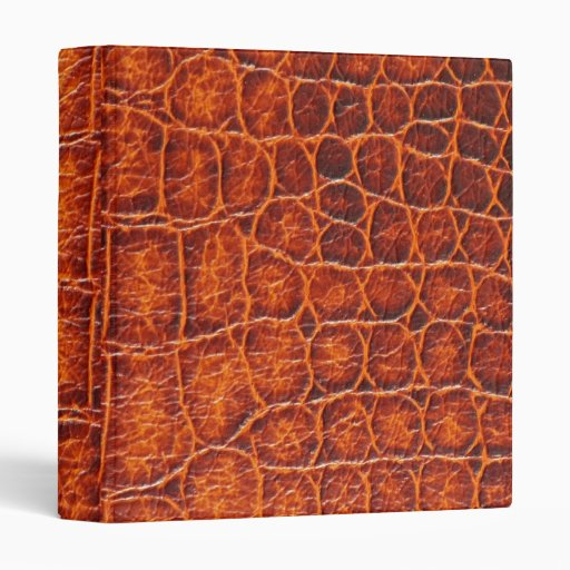 Three-Ring Binder - Crocodile Skin -