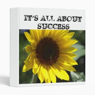 Three Ring Binder It's All About Success