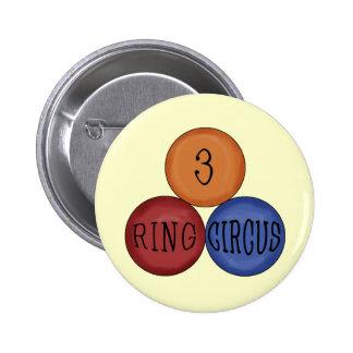 Three Ring Circus Button