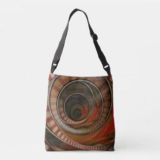 Three-Ring Circus Striped Symbol Fractal Circles Crossbody Bag