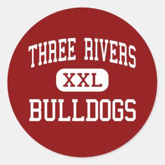 Three Rivers - Bulldogs - High - Three Rivers Classic Round Sticker