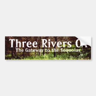 Three Rivers California CA Bumper sticker art