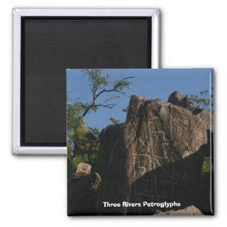 Three Rivers Petroglyphs 2 Inch Square Magnet