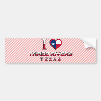 Three Rivers, Texas Car Bumper Sticker