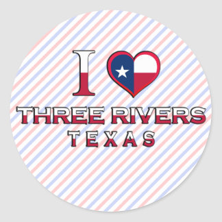 Three Rivers, Texas Classic Round Sticker