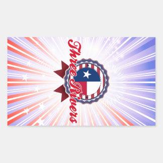 Three Rivers, TX Rectangle Sticker