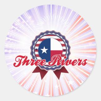 Three Rivers, TX Classic Round Sticker